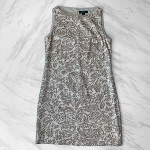 Ralph Lauren Sequined Patterned Dress
